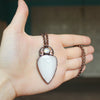 Celestial Scolecite & Rainbow Moonstone Necklace