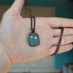 Faceted Aquamarine Necklace - B
