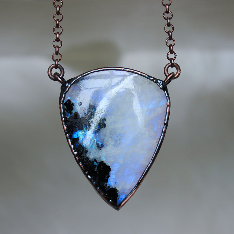 Rainbow Moonstone Necklace - i