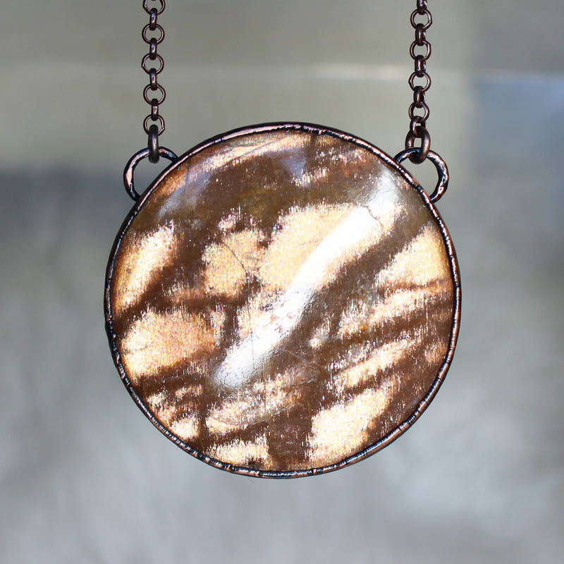 Sunstone Full Moon Necklace
