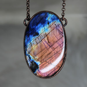 Giant Labradorite Necklace - d