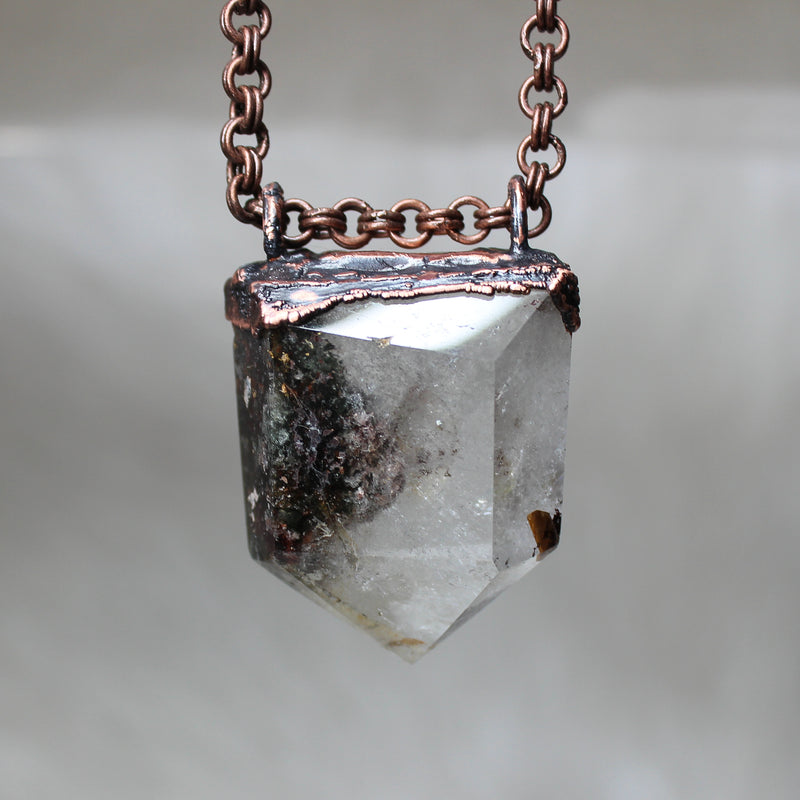 Large Lodolite Point Necklace