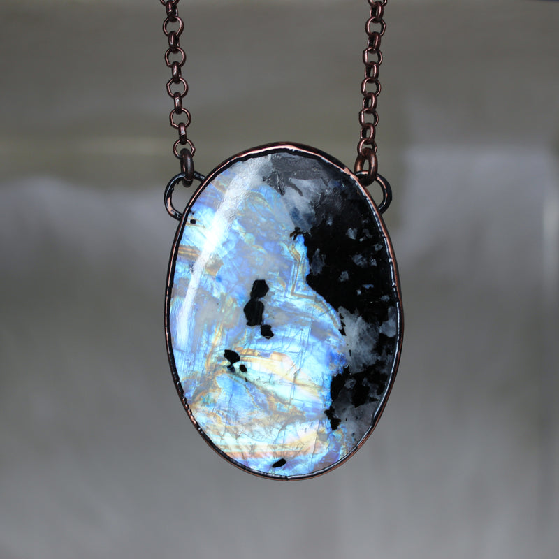 Rainbow Moonstone Necklace - f