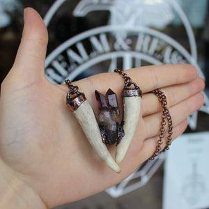 Smokey Brandberg Amethyst Forest Dweller Necklace