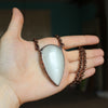 Large White Moonstone Necklace - B