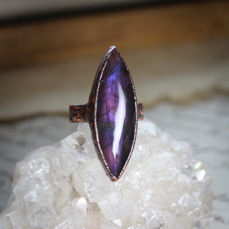 Purple Labradorite Ring size 8.5