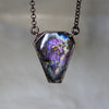 Purple Labradorite Coffin Necklace