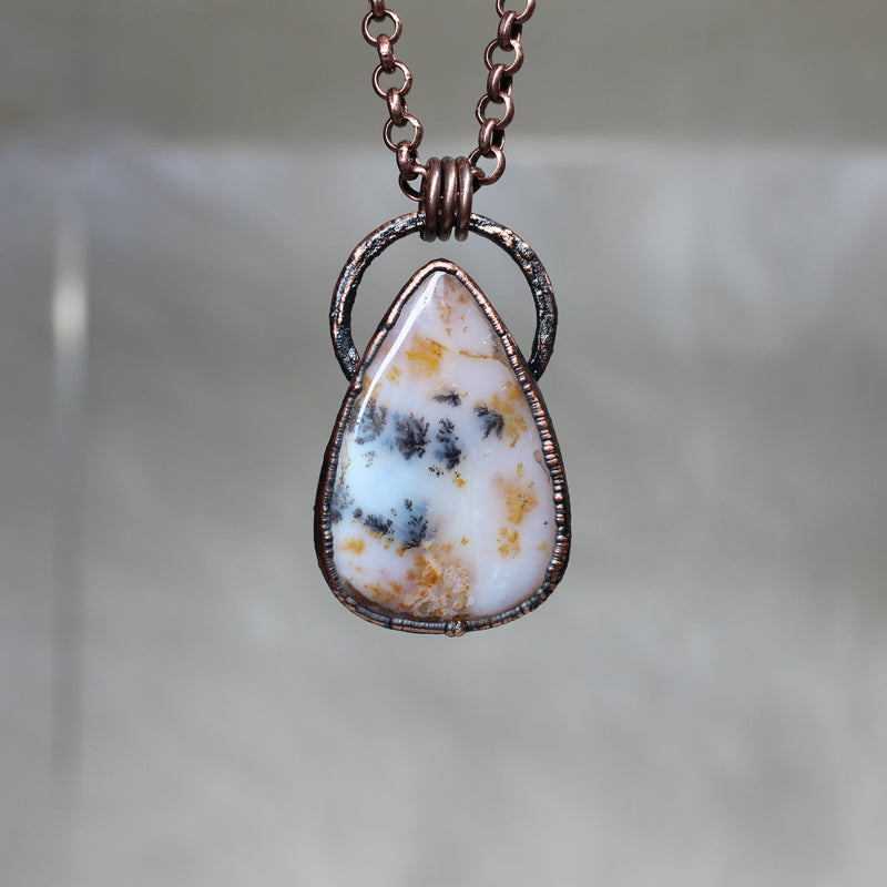 Siberian Dendritic Agate  Necklace - a