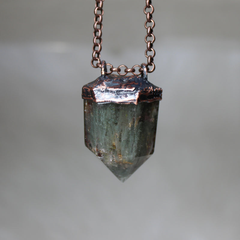 Lodolite Point Necklace - b