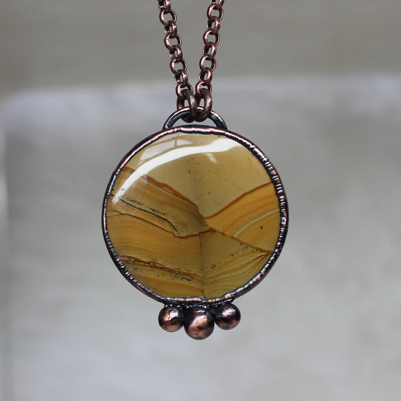 Owyhee Jasper Full Moon Necklace - b