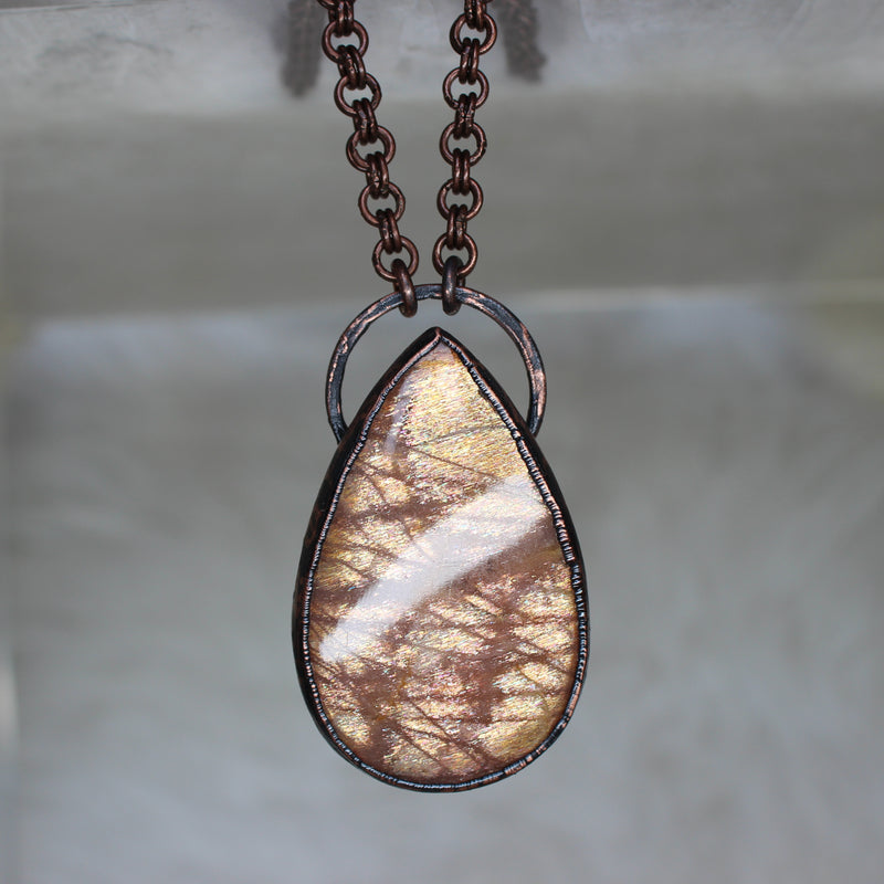 Large Sunstone Necklace