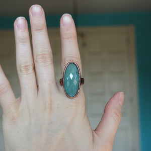 Aquamarine Ring size 8.75