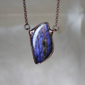 Purple Labradorite Free Form Necklace