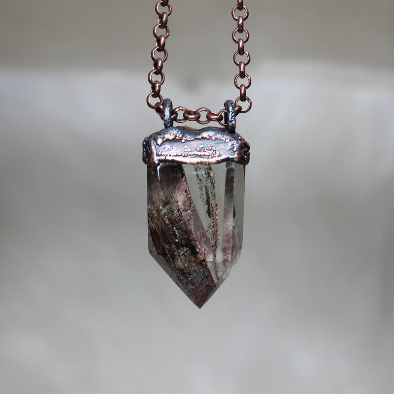 Lodolite Point Necklace