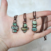 Raw Turquoise Nugget Necklace - A