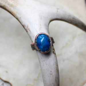 Blue Apatite Ring size 5.5