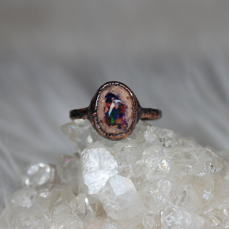 Galaxy Opal Ring size 7.5