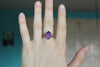 Deep Purple Faceted Amethyst Ring size 6.75