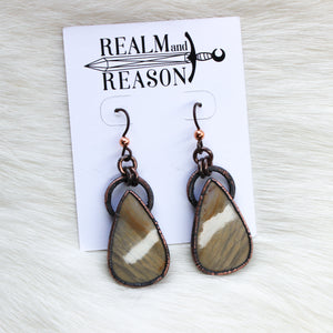 Polychrome Jasper Earrings - c