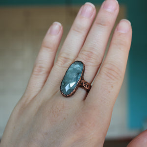 Aquamarine Ring size 6.75