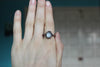 Gray Moonstone Ring size small 10