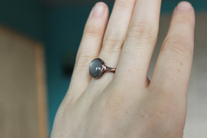 Gray Moonstone Ring size 6.25
