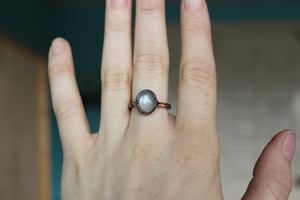 Gray Moonstone Ring size 6.5