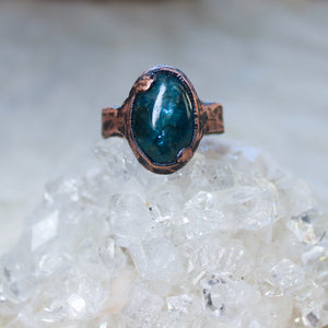 Blue Apatite Ring Size 9.5