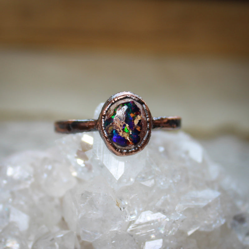 Galaxy Opal Ring size 10.75