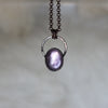 Gem Lepidolite Hoop Necklace - C