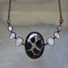 Septarian & Moonstone Bib Necklace
