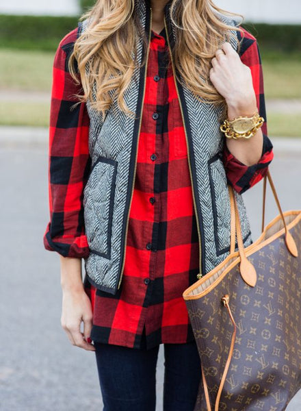 Quilted Herringbone Excursion Vest