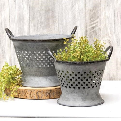 Galvanized Metal Colander