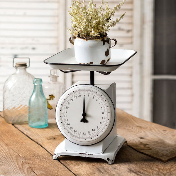 Distressed White Metal Scale