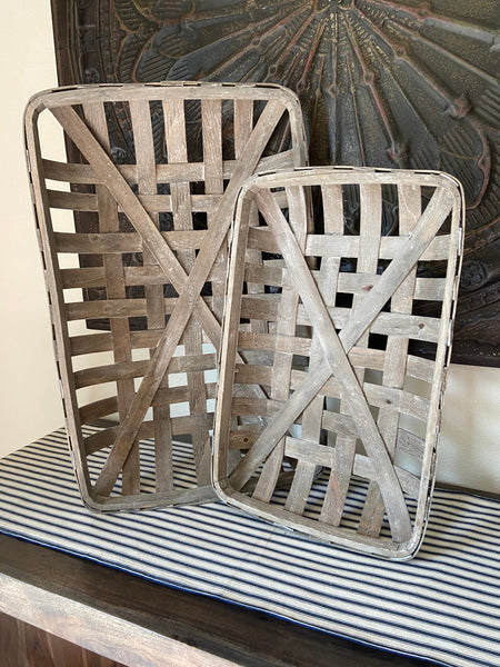 2/Set Gray Tobacco Baskets