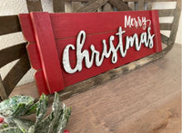 Wood Merry Christmas Sign