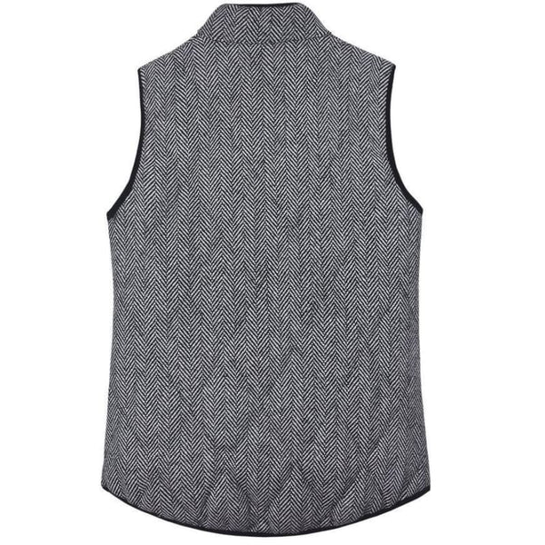 Never Look Back- Quilted Herringbone Excursion Vest - Vest