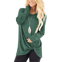 Long Sleeve Knot Front Top