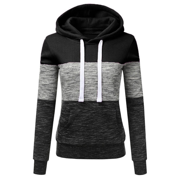 Triple Stripe Patchwork Hoodie - More Colors Available