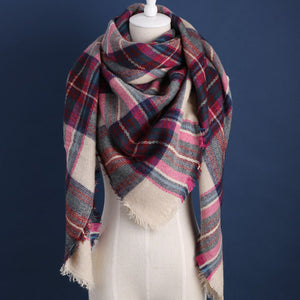 Paula Plaid Blanket Scarf - Multi Color