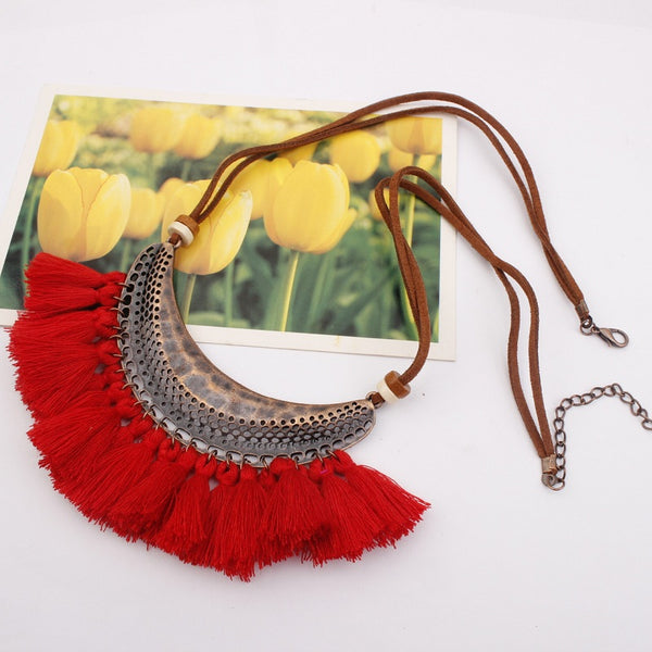 Boho Tassel Necklace - Several Color Options