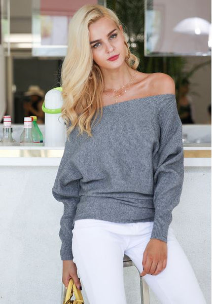 A Little Shy-Off the Shoulder Sweater