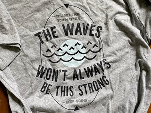 WAVES UNISEX T-SHIRT IN ATHLETIC HEATHER