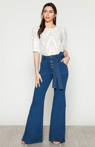 Lilly May Tie Front Jeans