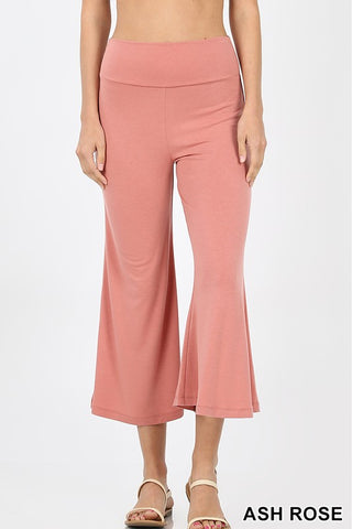 Ash Rose Gaucho Capri Pants