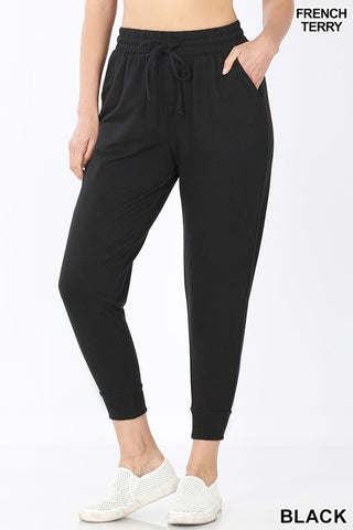 Black French Terry Jogger Sweatpants