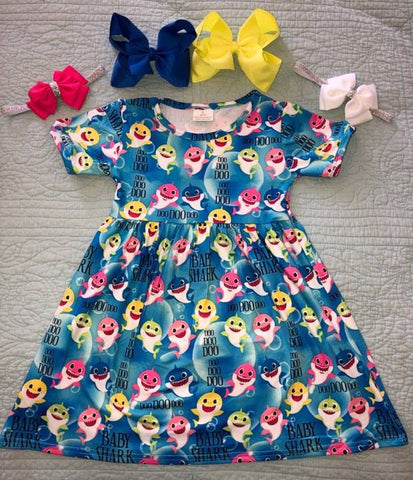Blue Baby Shark Dress