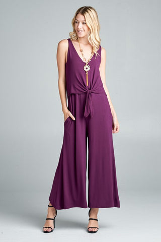 Purple Midi Jumper with Front Tie