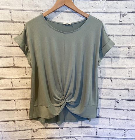 Light Green Top with Twist Front