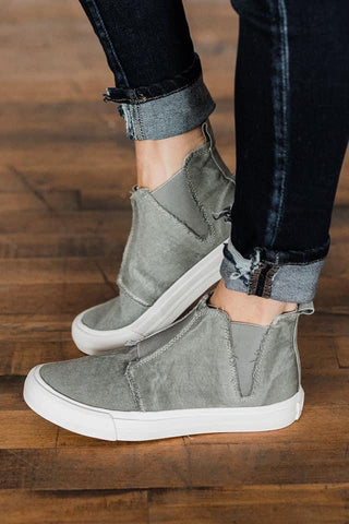 Gypsy Jazz by Very J Grey Ankle Sneakers